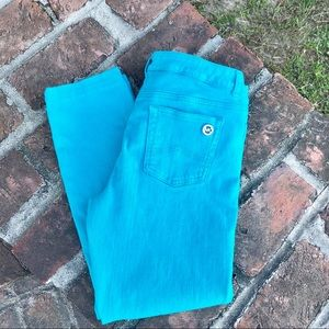 Michael Kors teal denim jeans size 10